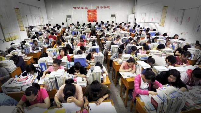 中国の受験風景