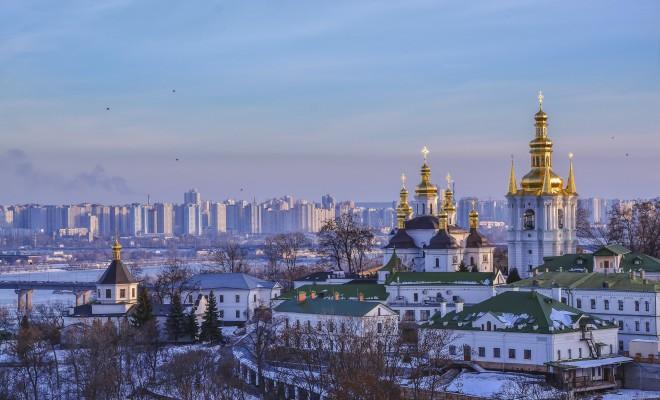 秋のキエフ中心